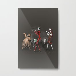 Thriller before Christmas Metal Print