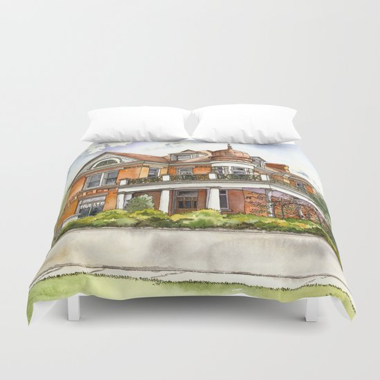 Stately Manor House Duvet Cover