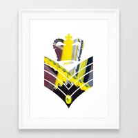 general Framed Art Prints featuring Fixie General by Pedlin