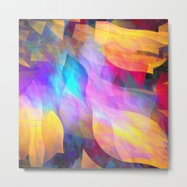 Colourful abstract with leaf shapes Metal Print