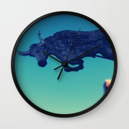 The flying bull Wall Clock