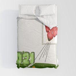 2021 Kicking 2020s Butt Funny Cartoon Comforters