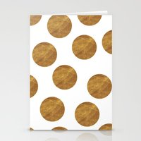 polkadot Stationery Cards featuring GOLD POLKADOT 2 by wlydesign