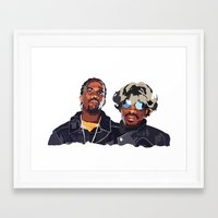 outkast Framed Art Prints featuring DeepMatter's favourite Hip Hop collectives - Outkast by DeepMatter