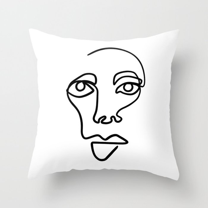 One line Throw Pillow