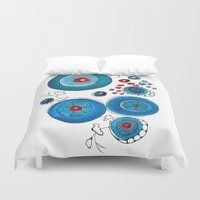 oriental Duvet Covers featuring Oriental poppies by Gosia&Helena
