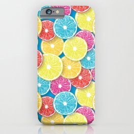 Citrus fruit slices pop art  iPhone Case