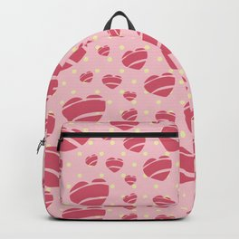 50's Rock a Billy Hearts - by Jezli Pacheco Backpack