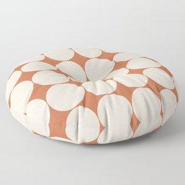 Circular Minimalism - Orange Floor Pillow