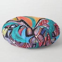 in orbit Floor Pillow