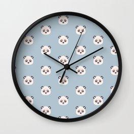Cute animal faces pattern Wall Clock