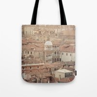 venice Tote Bags featuring Venice by Yolanda Méndez