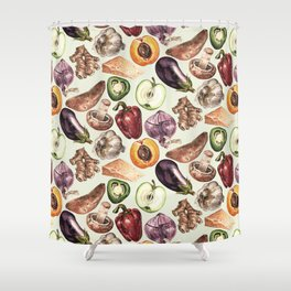 Food Pattern Shower Curtain