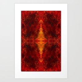 fire eye our four - by sdthoart Art Print