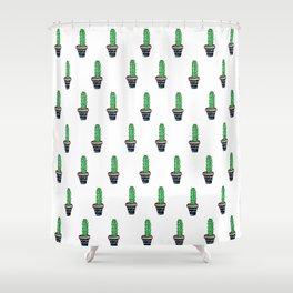 PATTERN II Geometric Cacti Shower Curtain