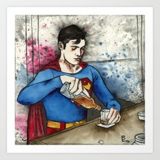 Evil Superman Art Print