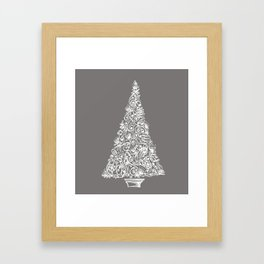 A Christmas tree in New Zealand Framed Art Print