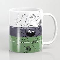 middle earth Mugs featuring Middle Earth by Cécile Pellerin