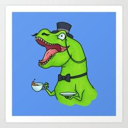 Tea Rex Art Print