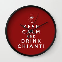 Keep calm and drink red wine Wall Clock