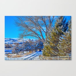 A Wyoming Winter Day X1 Canvas Print