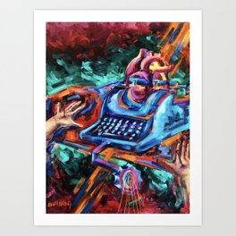 """""""The Crucifixion of a Writer"""" Painting Art Print"""