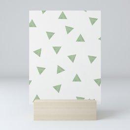 90's Green Watercolor Triangles Mini Art Print