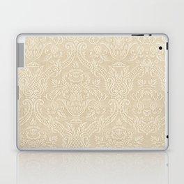 Vintage Wallpaper Pattern Beige Floral Elegant Damask Laptop & iPad Skin
