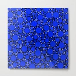 Vibrant Cobalt Blue Polka Dots Metal Print