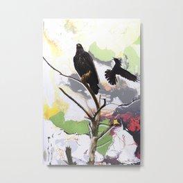 Eagle and Crow Metal Print