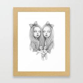 Creepy Twins Framed Art Print