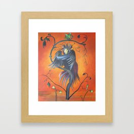 Gamaun The Prophetic Bird With Ruffled Feathers Framed Art Print