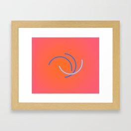 Rose encircling Framed Art Print