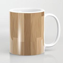 Multi Brown Wood Floor Pattern Coffee Mug