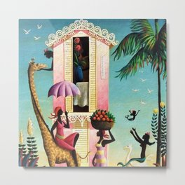 African American Masterpiece 'Paradise Island' by Orville Bulman Metal Print