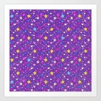 Magic Star Confetti Art Print