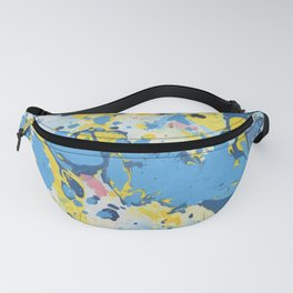 Abstract Blue & Yellow Paint Fanny Pack