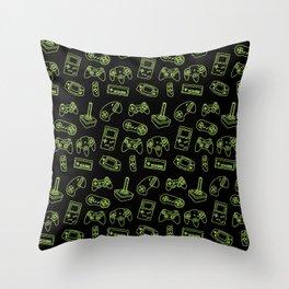 video game joystick pattern Throw Pillow