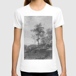 Barend Cornelis Koekkoek - Landschap bij ondergaande zon T-shirt