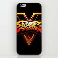 foo fighters iPhone & iPod Skins featuring Street Fighters by Tom Lee