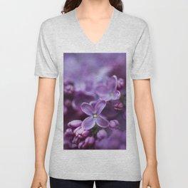 Purple Lilac Unisex V-Neck