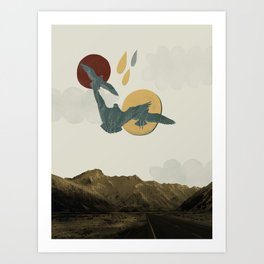 Watching all the ground beneath you drop Art Print