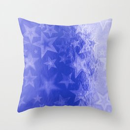 Royal Blue Starshine Throw Pillow