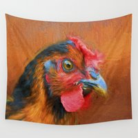chicken Wall Tapestries featuring Colorful Chicken by ThePhotoGuyDarren