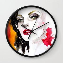 Pink lips Wall Clock