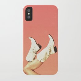 These Boots - Living Coral iPhone Case