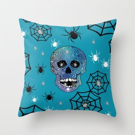 Creepy Crawling Spiders Throw Pillow