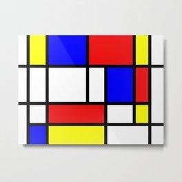 The fake Mondrian Metal Print
