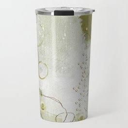 Abstract - Circulating - Richly Textured Design in Sage Green Travel Mug