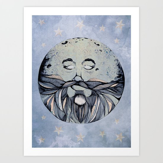 Moon & The Stars Art Print